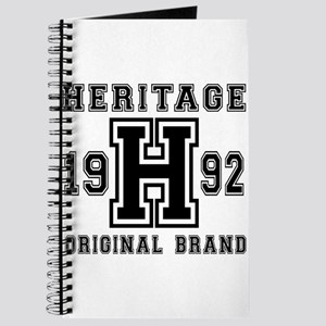 Heritage 1992 Original Brand Birthday Desi Journal