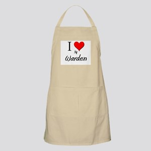 I Love My Warden BBQ Apron
