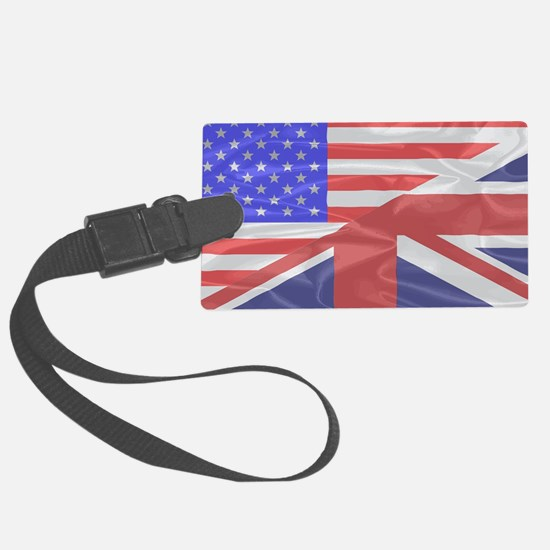Cute British and american flag Luggage Tag