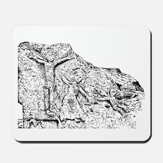Aghadoe Church Stone Mousepad
