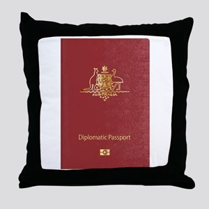 Australian Diplomatic Passport Throw Pillow