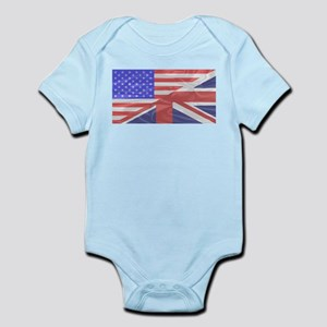 Union Jack and Stars and Stripes Body Suit