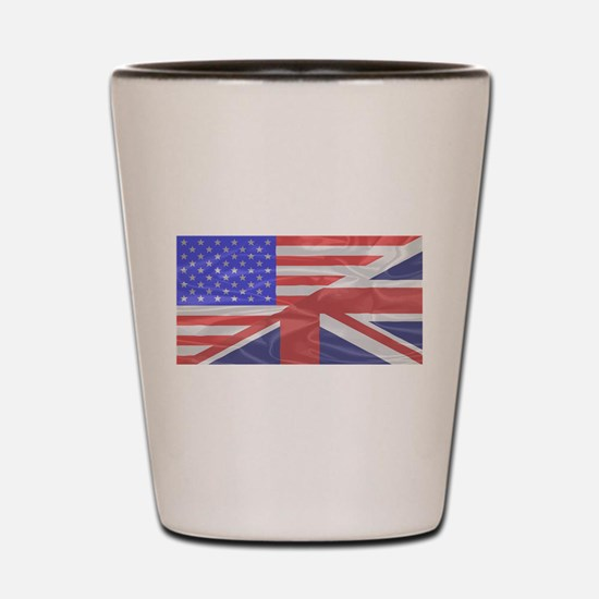 Union Jack and Stars and Stripes Shot Glass