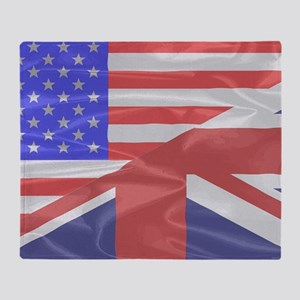 Union Jack and Stars and Stripes Throw Blanket