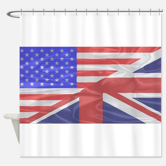 Union Jack and Stars and Stripes Shower Curtain