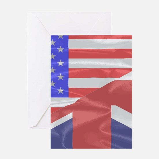 Union Jack and Stars and Stripes Greeting Cards