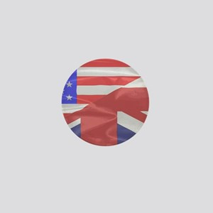 Union Jack and Stars and Stripes Mini Button