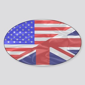 Union Jack and Stars and Stripes Sticker