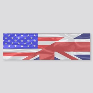 Union Jack and Stars and Stripes Bumper Sticker