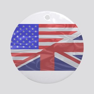 Union Jack and Stars and Stripes Round Ornament