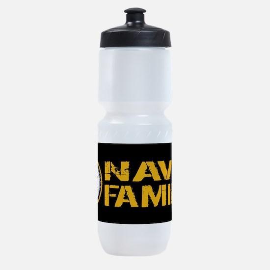 U.S. Navy: Navy Family (Black) Sports Bottle