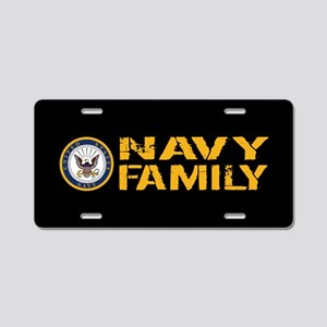 U.S. Navy: Navy Family (Bla Aluminum License Plate
