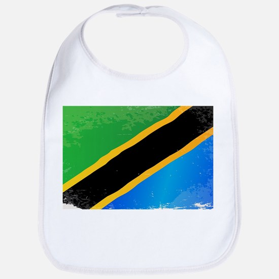 Tanzania Grunge Flag Bib