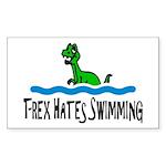 T Rex Hates Swimming Sticker