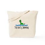 T Rex Hates Swimming Tote Bag