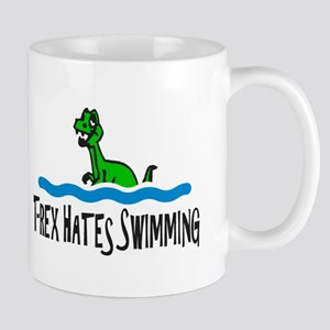 T Rex Hates Swimming Mugs