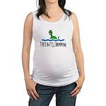 T Rex Hates Swimming Maternity Tank Top