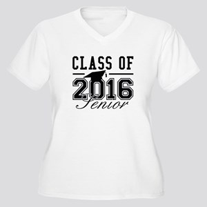 Class Of 2016 Senior Women's Plus Size V-Neck T-Sh