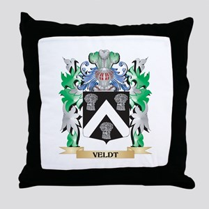 Veldt Coat of Arms - Family Crest Throw Pillow