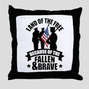 Fallen & Brave Throw Pillow