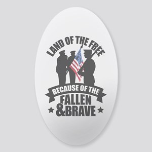 Fallen & Brave Sticker (Oval)