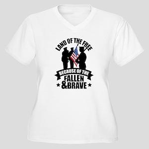 Fallen & Brave Women's Plus Size V-Neck T-Shirt