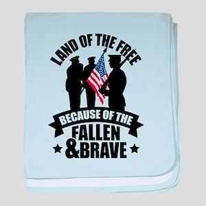 Fallen & Brave baby blanket