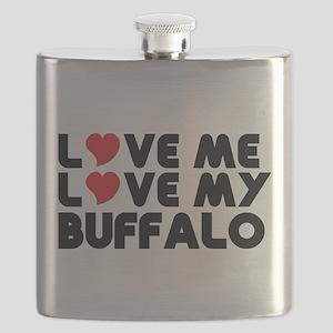 Love Me Love My Buffalo Flask