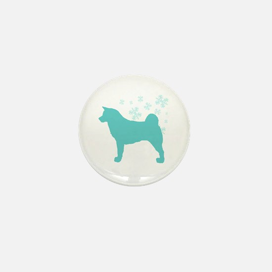 Akita Snowflake Mini Button