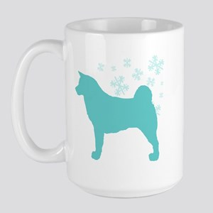 Akita Snowflake Large Mug