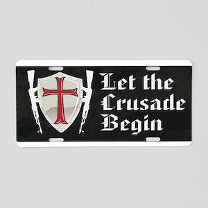 Templar Crusade Aluminum License Plate