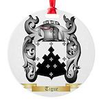 Tigue Round Ornament