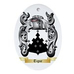Tigue Oval Ornament