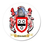 Tideswell Round Car Magnet