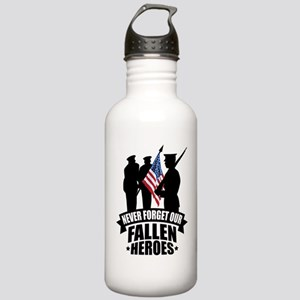 Never Forget Fallen Stainless Water Bottle 1.0L