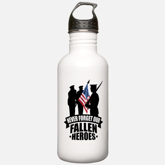 Never Forget Fallen Water Bottle