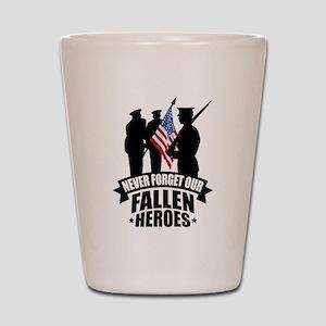 Never Forget Fallen Shot Glass