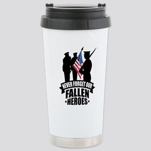 Never Forget Fallen Stainless Steel Travel Mug
