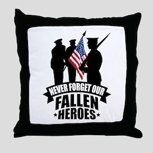 Never Forget Fallen Throw Pillow