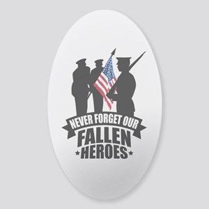 Never Forget Fallen Sticker (Oval)