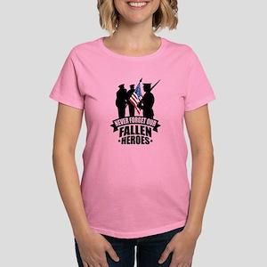 Never Forget Fallen Women's Dark T-Shirt
