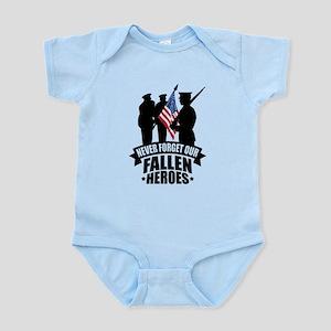 Never Forget Fallen Infant Bodysuit