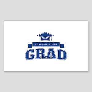 Congratulations Grad Sticker (Rectangle)