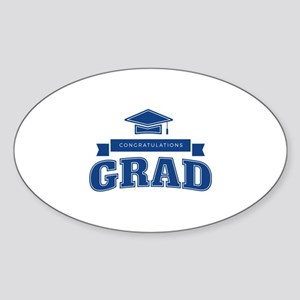 Congratulations Grad Sticker (Oval)