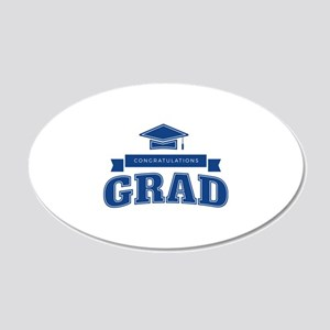 Congratulations Grad 22x14 Oval Wall Peel