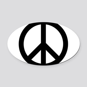 Peace Out Oval Car Magnet