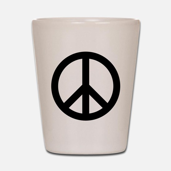 Peace Out Shot Glass