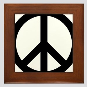 Peace Out Framed Tile