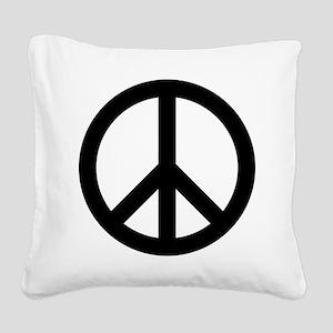 Peace Out Square Canvas Pillow