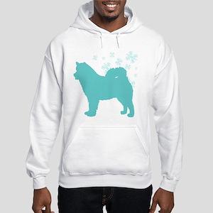 Alaskan Malamute Snowflake Hooded Sweatshirt